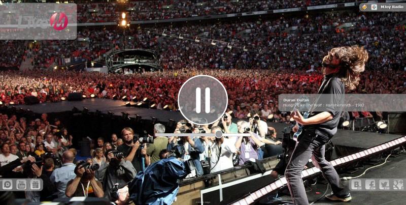 Веб-сайт радіостанції MJoy #10