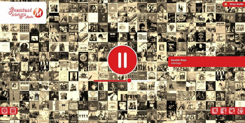 Веб-сайт радіостанції MJoy #11
