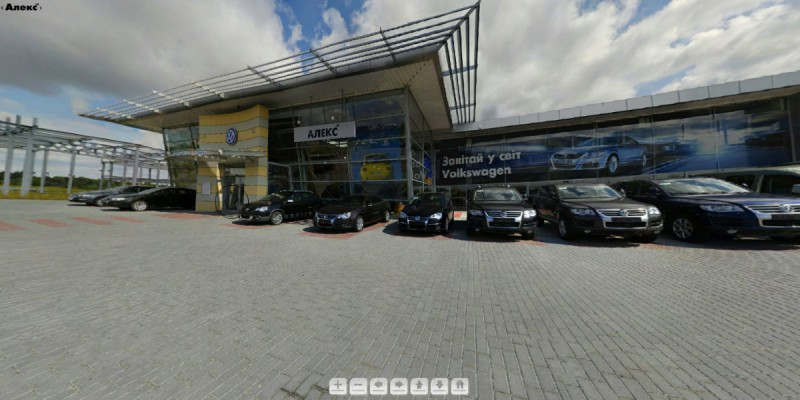 3D-tour Volkswagen showroom in Lviv #2