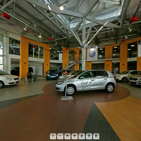 3D-tour Volkswagen showroom in Lviv #1