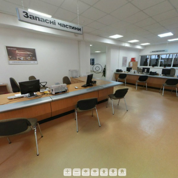 3D-тур для автосалона Nissan во Львове #1