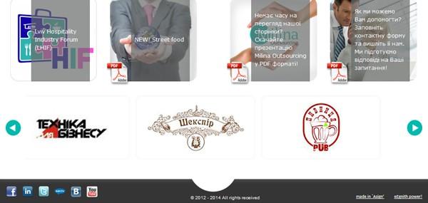 Milina Outsourcing (веб-сайт) #3