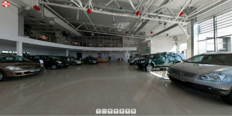 3D virtual tour for showroom of Nissan in Lviv #2