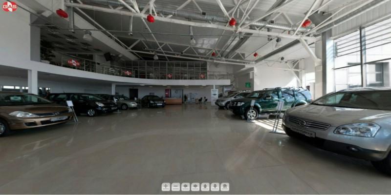 3D-тур для автосалона Nissan во Львове #2